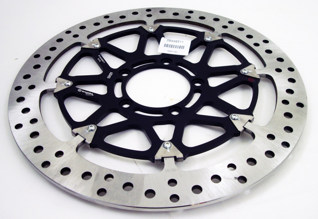 brembo rotors drilled and made from stainless steel