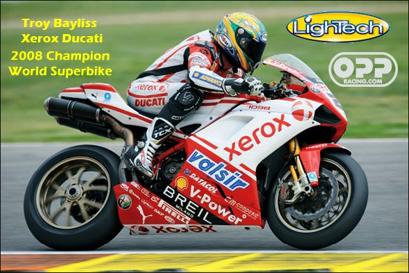 troy bayliss using lightech  parts