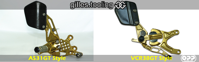 Gilles Tooling Rearsets - AS31GT Rear sets and VCR38GT Rear sets