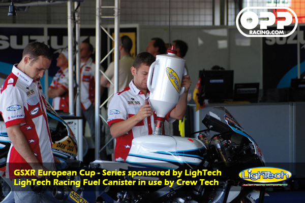 LighTech Race Fuel Canister / Gas Canister, distributed by OPP Racing