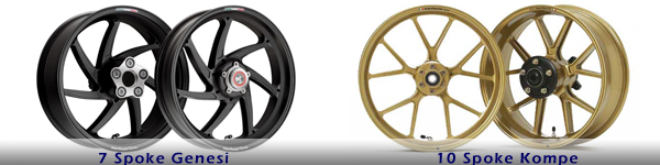 Marchesini Kompe & Genesi design motorcycle wheels