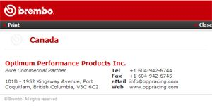 oppracing is the official distributor for Brembo high performance motorcycle parts