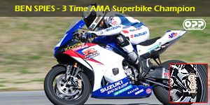 Ben Spies AMA Superbike champion uses Brembo Brakes, picture from OPP Racing