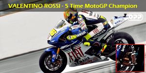 Valentino Rossi using Brembo Brakes on his YZR-M1, picture courtesy of OPP Racing